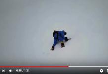 Rick Allen en el momento de ser localizado por el dron de los hermanos Bergiel