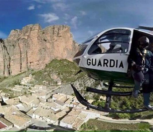 La Guardia Civil, durante una operación en los Mallos de Riglos. FOTO: Facebook Guardia Civil