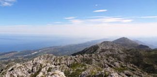 Una vista del Pico Turbina en la sierra del Cuera (Principado de Asturias)