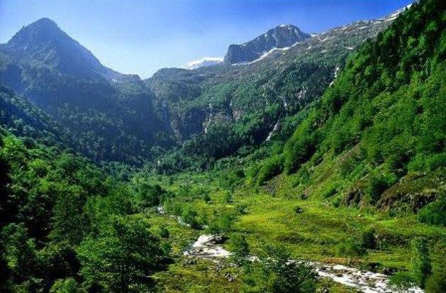 Una vista del el Parque Natural Regional de Pyrénées Ariégeoises