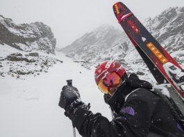 Aymar Navarro a punto de dejar las mejores trazas en la nieve andina