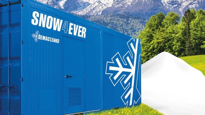 El equipo Snow4Ever es móvil y puede ubicarse según sea necesario