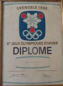 El diploma olímpico de Geni Baturone