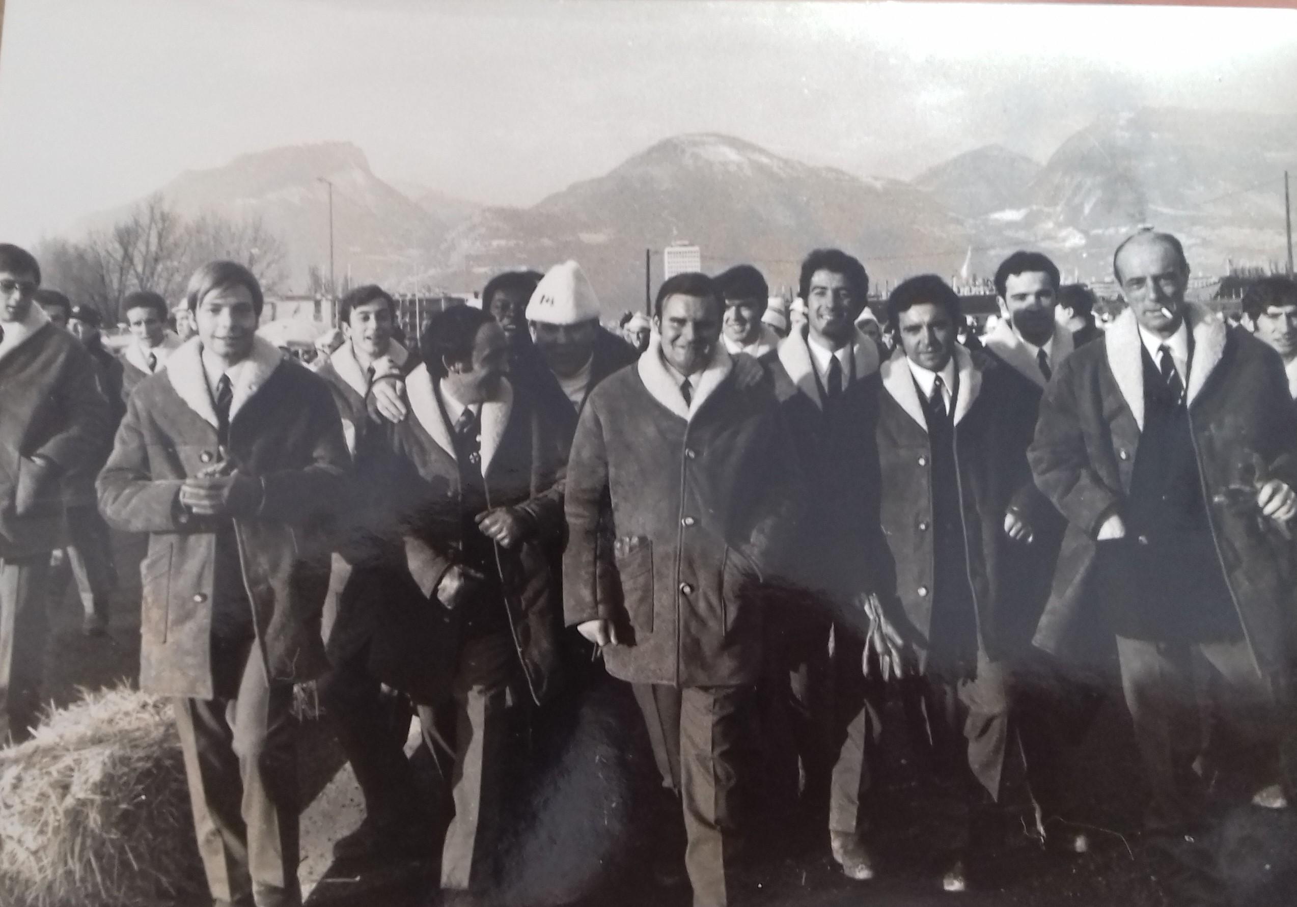 Parte de la delegación española en los Juegos de Grenoble de 1968