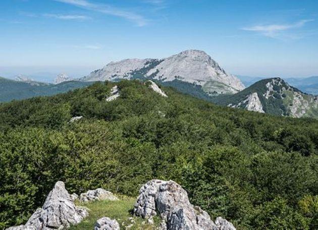 Una imagen del monte Anboto