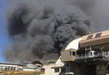 La estación intermedia del teleférico Grands Montets, en Chamonix, ha quedado completamente destruida por un incendio FOTO: @F3Alpes