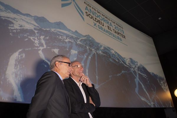 Conrad Blanch, presidente del comité organizador, junto a Francesc Camp, ministro de Turismo de Andorra