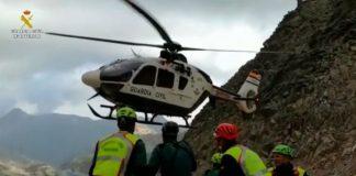 Imagen de archivo de un rescate de la Guardia Civil en montaña