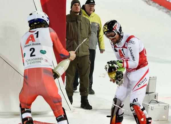 Kristoffersen y Hirscher mantienen una gran rivalidad y una buena amistad. FOTO: redbullcontentpool.com