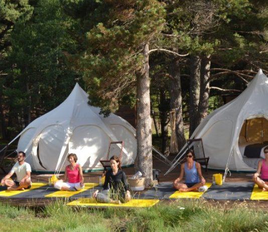 El entorno natural de la Borda Jaume (Andorra) propicia las mejores sesiones de yoga