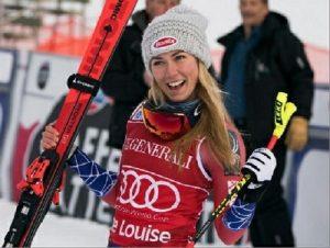 Tras ganar el segundo de los descensos de Lake Louise, su primera victoria en la disciplina reina