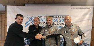 Conrad Blanch y miembros de la FIS, esta tarde en Soldeu El Tarter. FOTO: Prensa Soldeu El Tarter