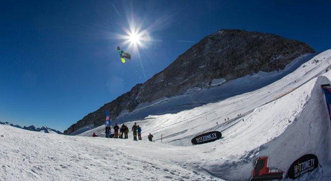El glaciar de Hintertux posee magníficas condiciones de nieve