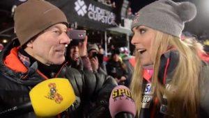 Ingemar Stenmark y Lindsey Vonn
