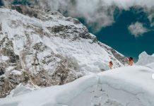 Morrison y Nelson durante el descenso del Lhotse
