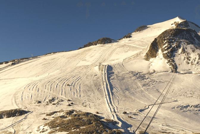 Aspecto del glaciar de Tignes