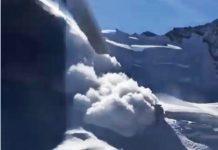 El alud de nieve sepultó el snow park de Saas Fee