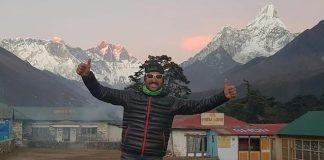 Jordi Gamito, a punto de tomar la salida de la Everest Trail Race