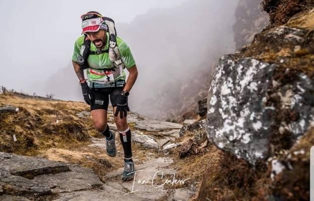 Jordi Gamito, durante la carrera. Ian Corless