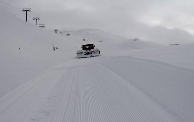 La cantidad de nieve es más que destacable