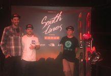 Adri Millán, Aymar Navarro y Txema Trull, en la presentación de South Lines en Barcelona FOTO: Apple Tree