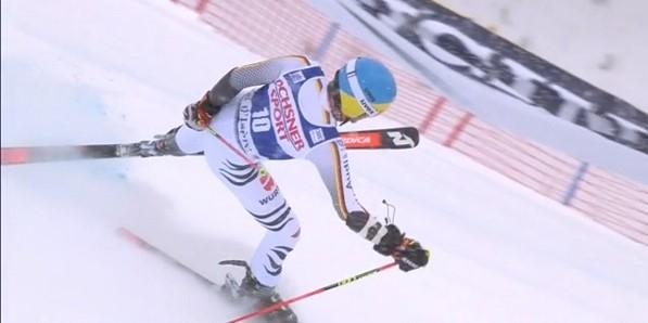 Neureuther ha vuelto a competir tras un año en blanco y se le ha notado falto de ritmo aunque ha salvado una situación apurada gracias a su talento