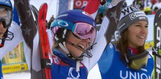 Mikaela Shiffrin celebra su 51ª victoria en la Copa del Mundo a sus 23 años.