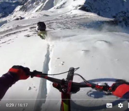 Los tres riders disfrutaron abriendo paso entre la nieve virgen