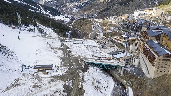 La plataforma que une las pistas con el pueblo andorrano de Soldeu ya está a lista