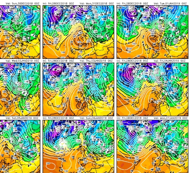 Las masas frías siguen desfilando al norte y este del continente europeo