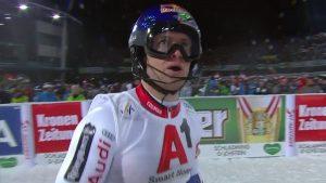 Sexto podio de la temporada de Pinturault, tercero en slalom.