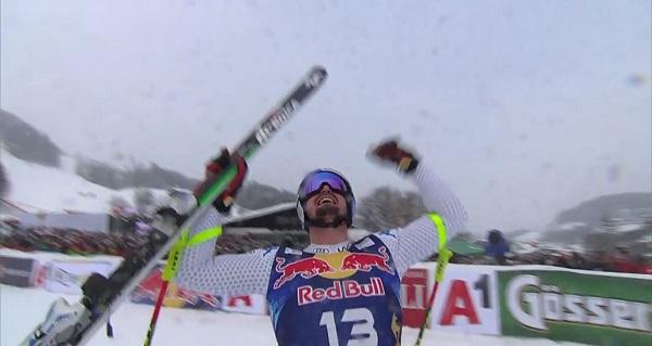 Tercera victoria de Dominik Paris en el descenso de Kitzbuehel.