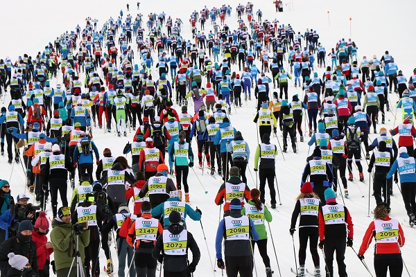La Marxa Beret es el evento más multitudinario de esquí de fondo que se celebra en España. FOTO: Fototur