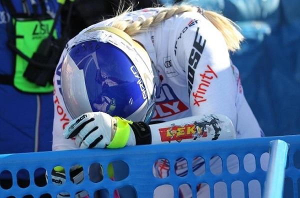 Lindsey Vonn, con pocas opciones de estar este fin de semana en Garmisch-Partenkirchen.