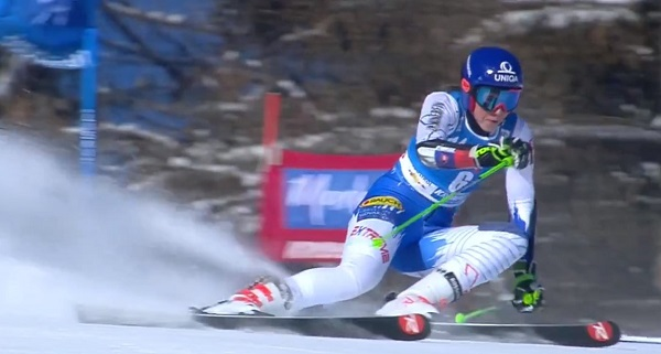 Petra Vlhova se ha quedado fuera del podio por casi medio segundo.