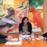 De izquierda a derecha, Mariano Soriano, director gral. del CSD, María José Rienda, Presidenta del CSD, y Gerard Figueras, Secretario General de Deportes