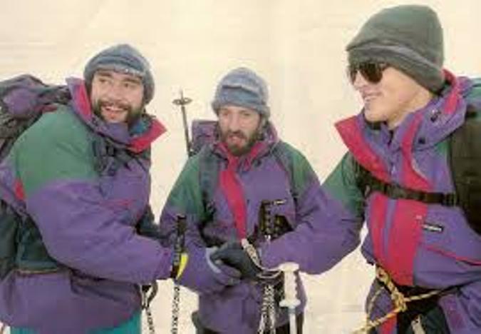 Serafín Zubiri, Javier Sáinz de Murieta y Alfonso Fidalgo en el Aconcagua 94