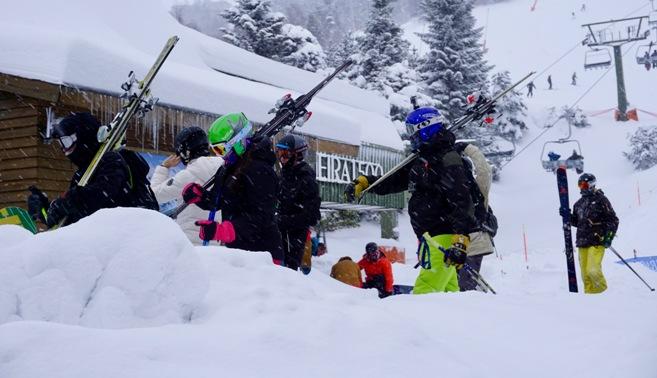 Los nuevos gruesos de nieve sobrepasan el 1,5 metros