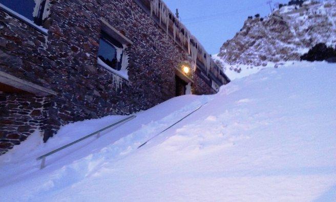 Las escaleras de acceso a Ordino
