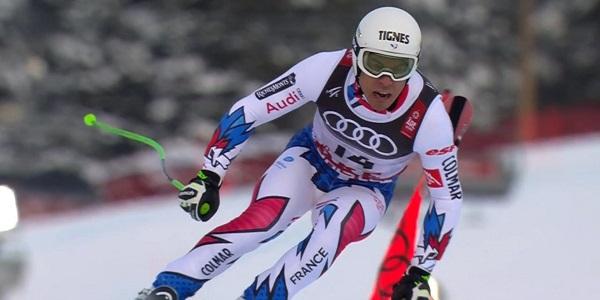 Johan Clarey se estrena en un podio del Mundial a sus 38 años.