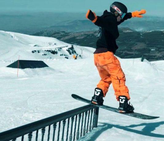 El snowboarder de la FADI, Jaime Castro visita la instalación Sulayr