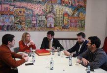 Elsa Artadi, en una de las reuniones mantenidas en la Seu d'Urgell.