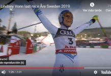 La mejor esquiadora se despide en el podio