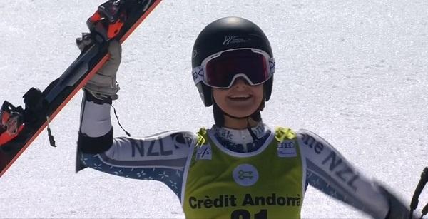 Alicen Robinson se ha reivindicado a lo grande hoy con su segundo puesto en el gigante de Soldeu.