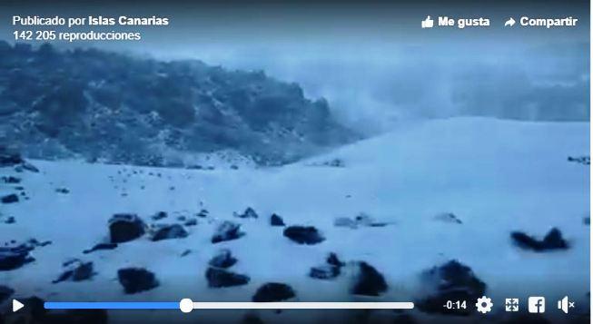 El Teide se tiñe de blanco