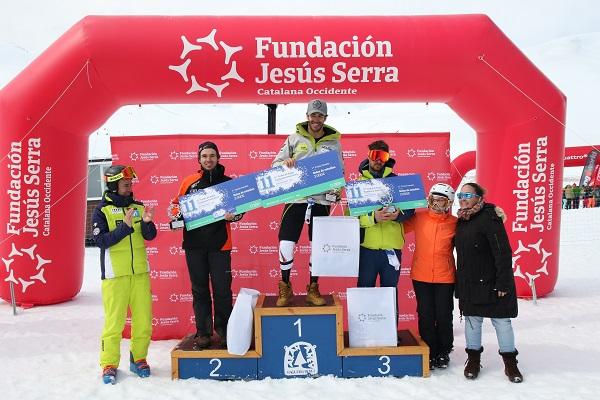 Podio de la edición de 2018 del Trofeo Jesús Serra.
