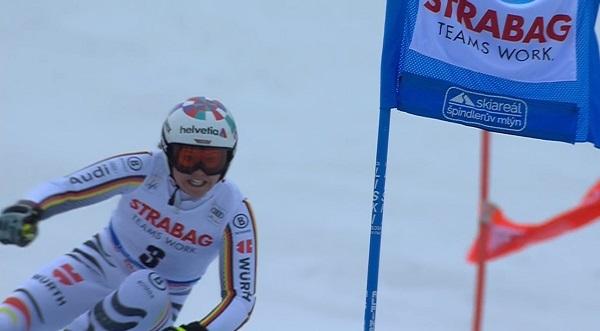 Viktoria Rebensburg ha sido la más regular, marcando el segundo mejor tiempo en ambas mangas.