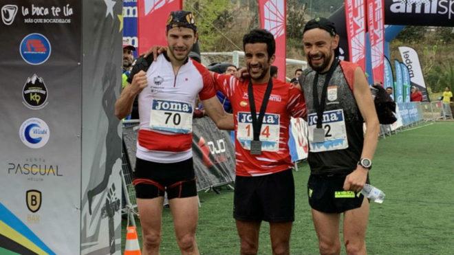 Andreu Simón, Zaid Ait Malek y Borja Fernández, en meta