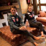 Andre Myhrer y Anna Swenn Larsson en Andorra esperando para competir este fin de semana en las finales de la Copa del Mundo. FOTO: Toni Grases/@photoset.es