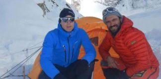 Una imagen de Nardi y Ballard hace algunos días en el Nanga Parbat